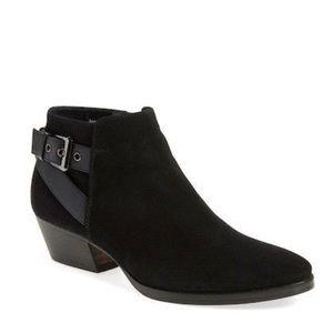 Aquatalia Farin black suede ankle boot
